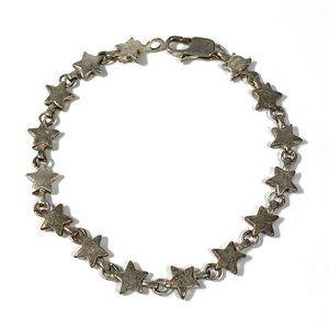 SOLD Tiffany Sterling Chain Of Stars Star Bracelet